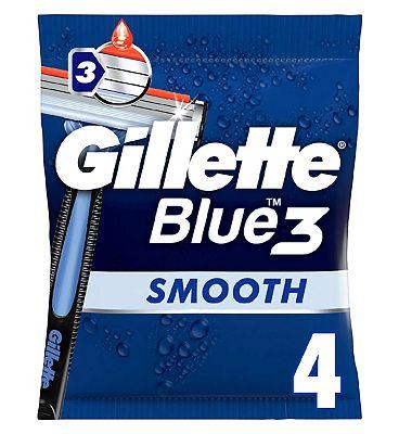 Gillette Blue3 Men's Disposable Razors x4