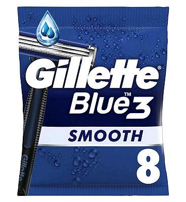 Gillette Blue3 Men's Disposable Razors x8