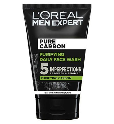 Click to view product details and reviews for Loreal Men Expert Pure Charcoal Purifying Daily Face Wash 100ml.