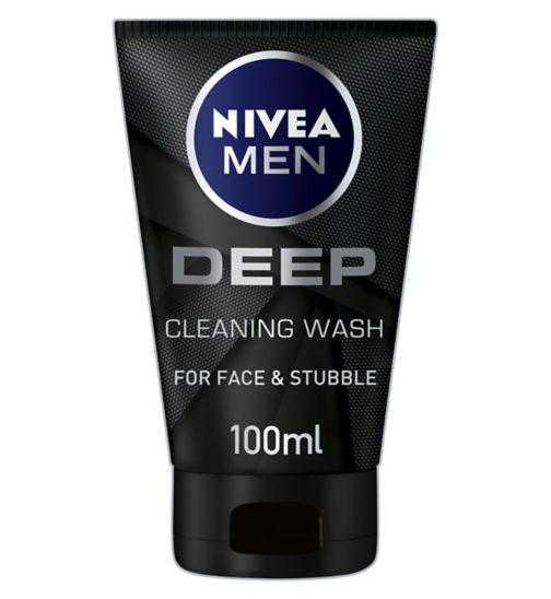 NIVEA MEN Deep Face Wash with Black Charcoal 100ml