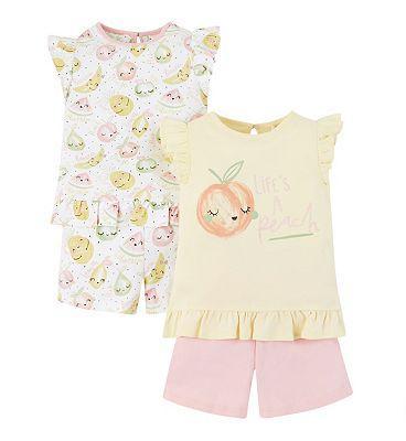 mini club 2 pack fruit pyjamas