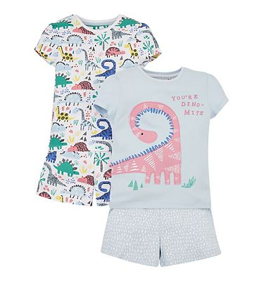 mini club 2 pack dinosaur pyjamas
