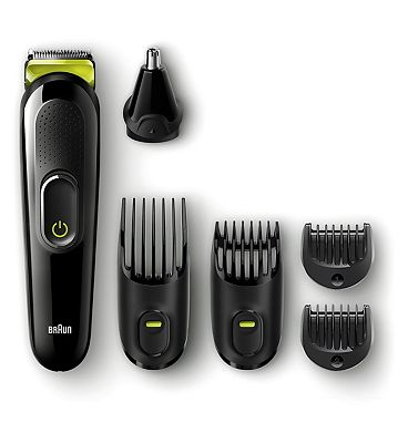 Braun 6-in-1 All-in-one trimmer MGK3021, Beard Trimmer & Hair Clipper, Ear & Nose Trimmer