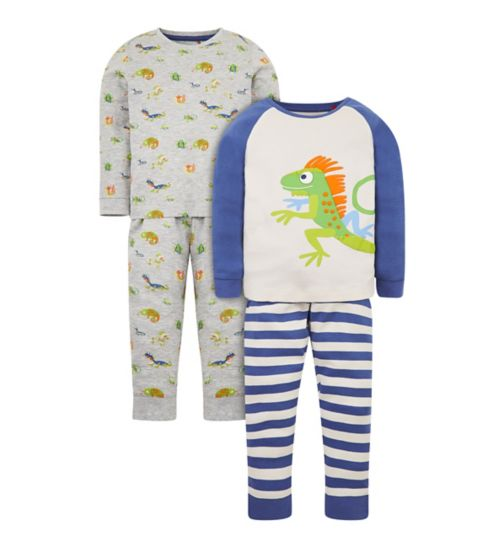 Worn Once Baby Boy Pack Of 2 Pyjamas Size 3-6 Months Perfect Condition And Digestion Helping
