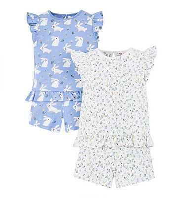 mini club 2 pack bunny pyjamas