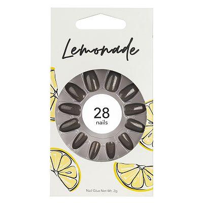 Lemonade Nails Stiletto Dark Shimmer