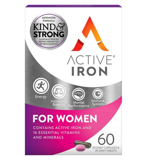 Active Iron & B Complex Plus For Women - 60s