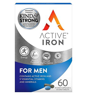 Active Iron & B Complex Plus For Men - 60s