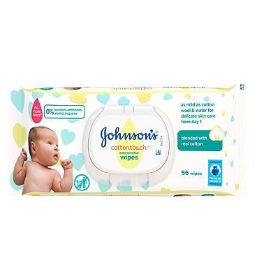 Cottontouch Extra Sensitive Baby Wipes, single pack = 56 Wipes