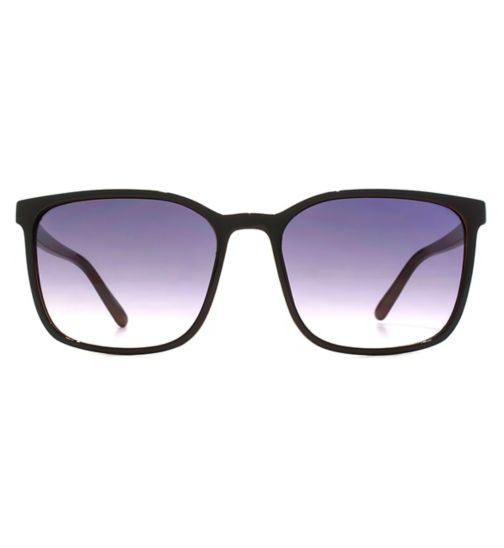 e9359093153c French Connection Mens Sunglasses Slim Square Plastic Black With Milky  Brown 26French ConnectionU685