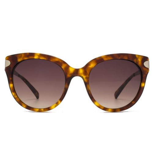 161e13e55fb6 French Connection Premium Sunglass Oversized Round In Brown Tort W Matt Pale  Gold Temples Brown