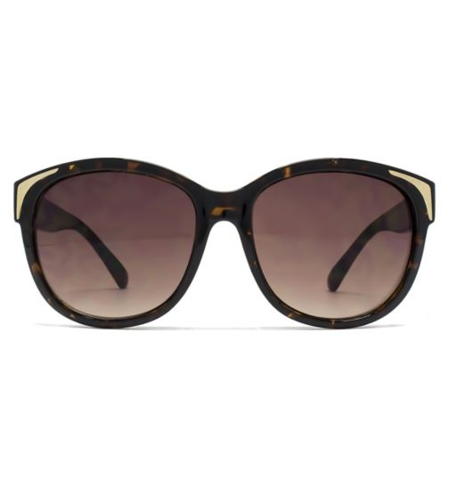 31034bc56443b French Connection Ladies Sunglass Metal Inlay Detail Plastic Dark Demi  26French ConnectionU635
