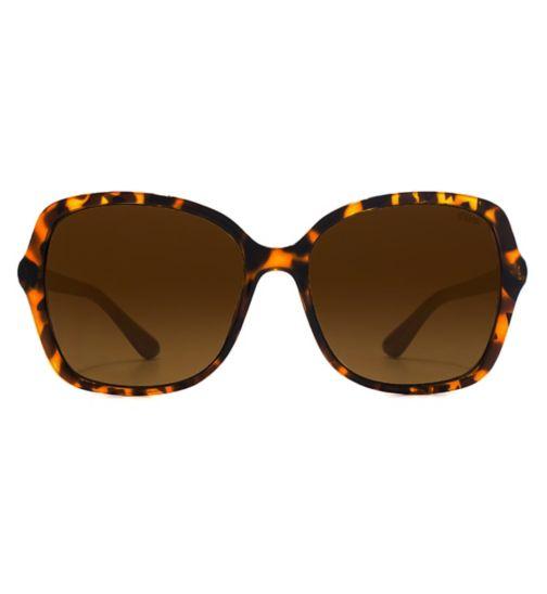 0bf2b41727 Suuna Womens Sunglass Fine Frame Square Plastic Dark Demi 26SUU143