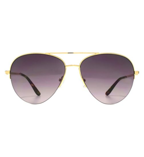 48741373a3e2 Whistles Sunglasses Metal Oversized D-Frame Ladies Gold 26WHS008-GLD