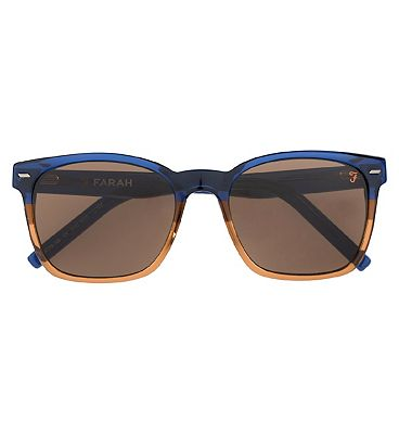 Farah Sunglasses - French Blue and Tan Stripe Frame
