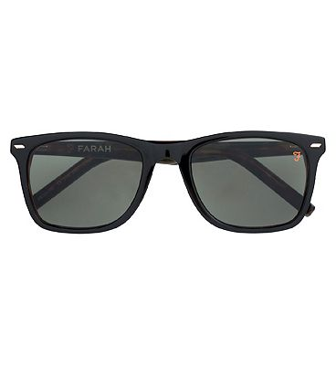 Farah Sunglasses - Matte Black and Tortoiseshell Green Frame