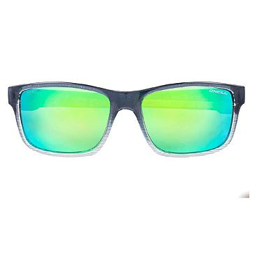 O'Neill Sunglasses - Matte Grey Fade Pattern and Lime Mirror Frame