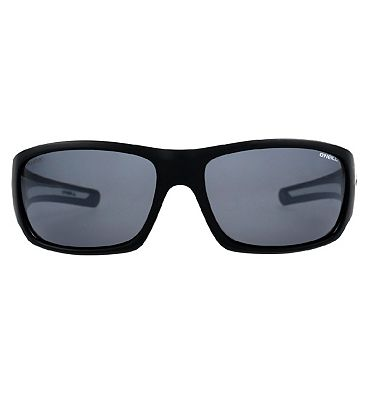 O'Neill Sunglasses Zepol - Matte Black and Silver Mirror Frame