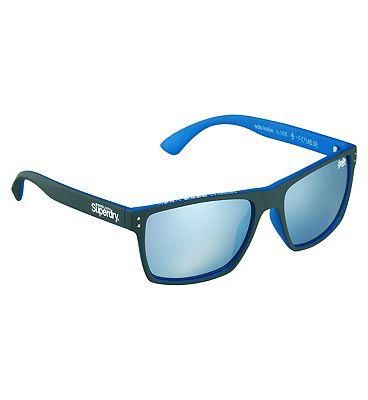 Superdry Sunglasses Kobe - Matte Grey And Blue Frame