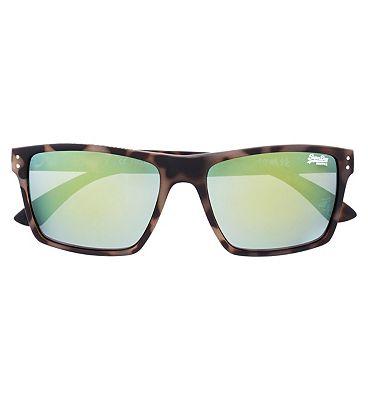 Superdry Sunglasses Kobe Matte Tortoiseshell and Yellow Frame
