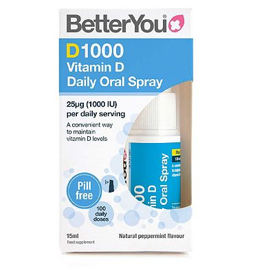 BetterYou Dlux 1000 Daily Vitamin D Oral Spray - 15ml