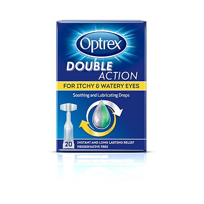Optrex Double Action For Dry and Tired Eyes - 20 vials