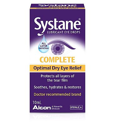 Systane Complete Lubricating Eye Drops for dry eyes - 10ml