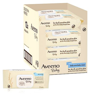 Aveeno Baby Daily Care baby wipes, 12 x 72 pack = 864 wipes