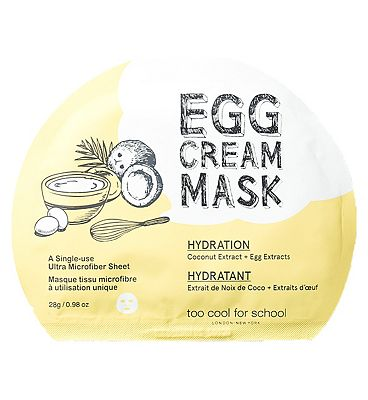 Too Cool For School Egg Cream Mask Hydration Set 5x masks