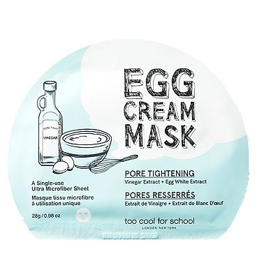 Too Cool For School Egg Cream Mask Pore Tightening Set 5x masks