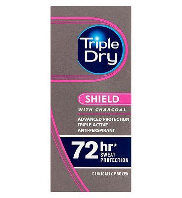 Triple Dry Antiperspirant Charcoal Roll On 50ml