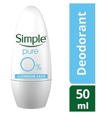 Simple Antiperspirant Roll On Pure 50ml
