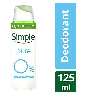Simple Antiperspirant Aerosol Pure 125ml