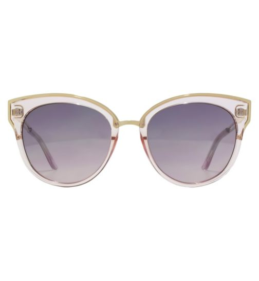 6de8ef852b14 French Connection Womens Sunglass Crystal pink cat eye frame