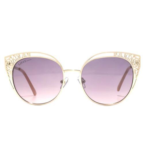 de6f6a1d69 Lipsy Sunglass Light gold metal filigree cut out frame