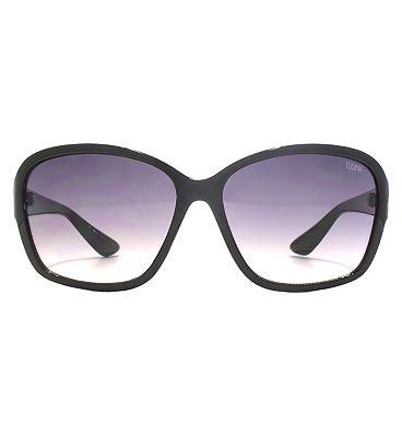 Suuna Women Sunglass Classic oval shiny black frame