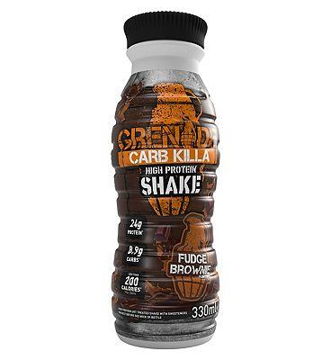 Grenade Carb Killa High Protein Shake Fudge Brownie - 330ml