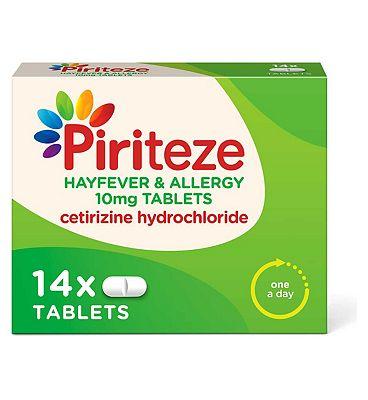 Piriteze Allergy Relief Tablets Cetirizine 14s