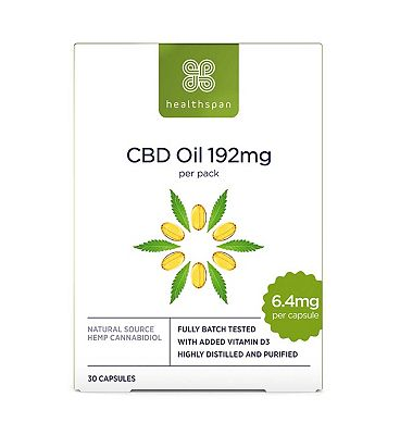 Healthspan High Strength CBD Oil 192mg - 30 Capsules