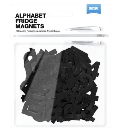 Shot2go alphabet magnets black