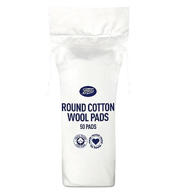 Boots cotton wool round cosmetic pads 50 pack