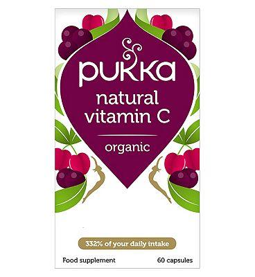 Pukka Natural Vitamin C Orgnaic - 60 Capsules