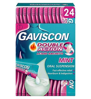 Gaviscon Double Action Liquid Sachets Oral Suspension - 24 x 10 ml
