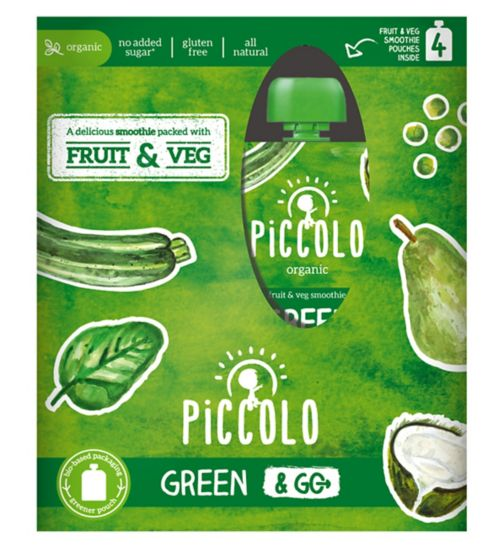 Piccolo Organic Green & Go Smoothie Multipack 6 Months+