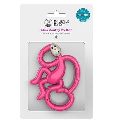 Matchstick Monkey Mini Teether Pink