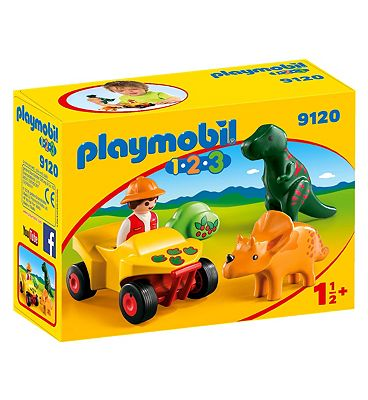 Playmobil 1.2.3 Explorer With Dinos 9120