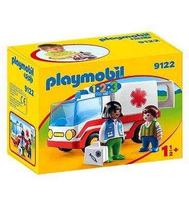 Playmobil 1.2.3 Rescue Ambulance 9122
