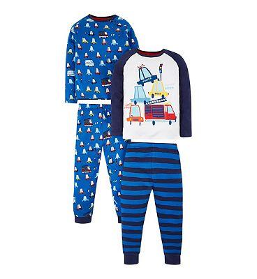 mini club 2 pack cars pyjama