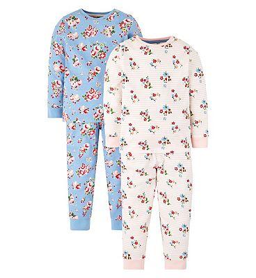 mini club 2 pack floral pyjama
