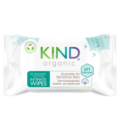 Kind Organic Intimate Cotton Wipes 20